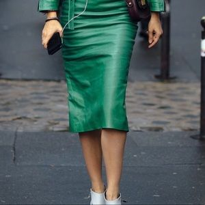Dresses & Skirts - Kelly green vegan leather pencil skirt